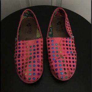 Bobs By Sketchers Pink Polka Dot Flats